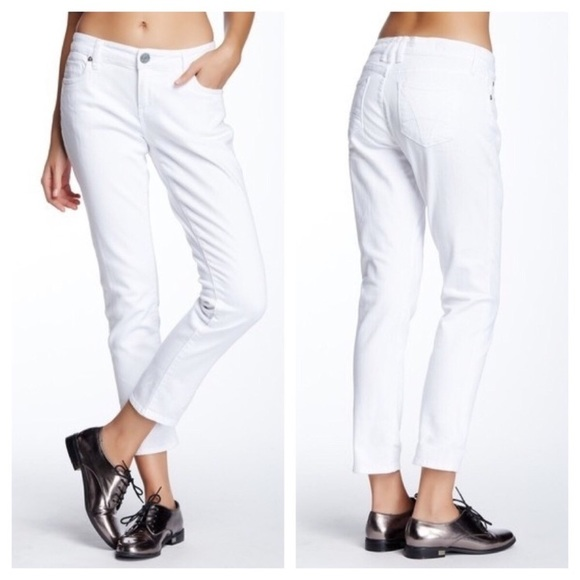 Kut from the Kloth Denim - Kut from the Kloth Jeans Katy Boyfriend White 4